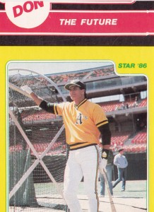 1986 Star  Yellow MisCut with Mattingly