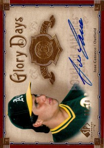 2005 SP LEGENDARY CUTS GLORY DAYS Autograph /10