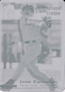 2001 Fleer Triple Crown Printing Plate 1/1