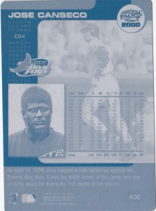 2000 Pacific Portrait / Action Printing Plate Back 1/1
