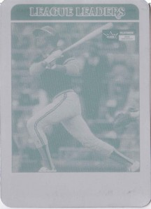 2001 Fleer Platinum 20th Anniversary Reprint Printing Plate 1/1