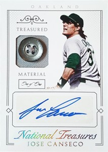 2015 NATIONAL TREASURES TREASURED BUTTON AUTOGRAPH 1/1