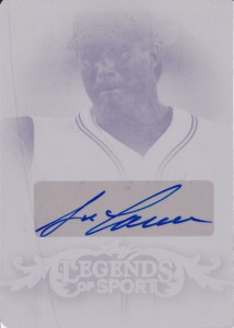 2015 Leaf Legends of Sport #BAJC1 Auto Printing Plate 1/1