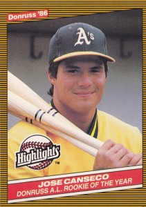 1986 Donruss Highlights #55 White Letter Variation