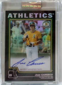 2004 Topps Chrome Retired Black Refractor Autograph #TA-JCA /25