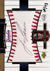 2003 Sweet Spot Classic Yankee Greats Black Ink Autograph /73