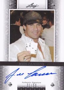 2011 Leaf Poker #BAJC2 Clubs Autograph /50