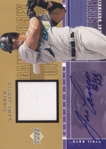 2001 Upper Deck S1 Game Jersey Autograph /33