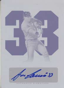 2012 Leaf Legends of Sport Cyan Printing Plate Autograph 1/1