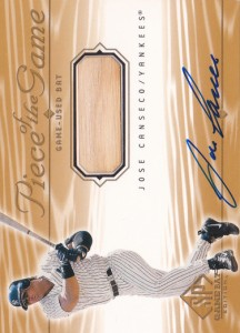 2001 SP Game Bat Edition Piece of the Game Bat / Autograph