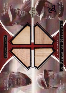 2001 Upper Deck Ovation A Piece of History Bat Combos #GBTC /25