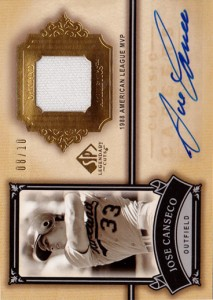 2005 SP Legendary Cuts Classic Careers Jersey Autograph /10