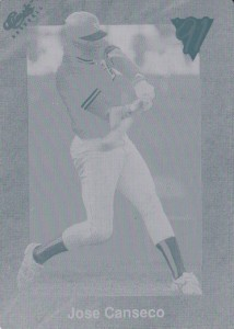 1991 Classic Red #T19 Printing Plate 1/1