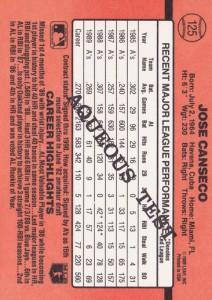 1990 Donruss #125 Aqueous Very Rare