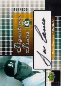 2004 Upper Deck Signature Stars Black Ink 2 Autograph #JC /160