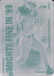 2000 Skybox Impact Mighty Fine in '99 1/1