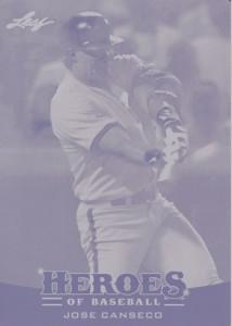 2015 Leaf Heroes of Baseball Magenta Printing Plate 1/1