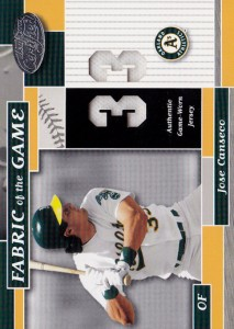 2002 Leaf Certified Fabric of the Game Jersey number /33
