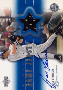 2001 Upper Deck Game Jersey Autograph 2 #JC