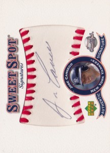 2001 Sweet Spot Signatures Autograph