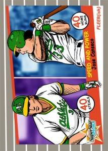 1989 Fleer #628 Cartoon Custom