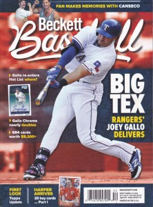2015 Beckett Magazine with Me & Canseco on Cover