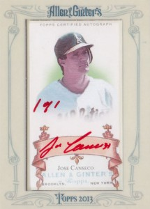 2013 Topps Allen & Ginter Framed Mini Red Ink Autograph Custom