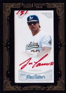 2012 Topps Allen & Ginter Framed Mini Red Ink Autograph Custom