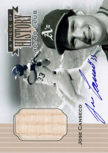 1999 Upper Deck A Piece of History Bat Autograph Custom