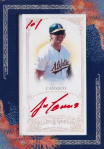 2011 Topps Allen & Ginter Framed Mini  Red Ink Autograph Custom