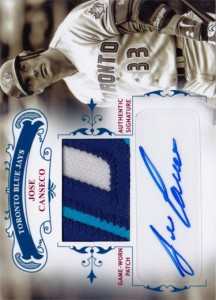 2012 National Treasures Autograph Patch Custom