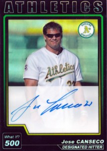2004 Topps Chrome What If Refractor Autograph Custom