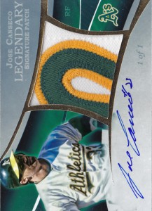 2015 Legendary Signature Patch Autograph Custom