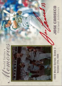 1989 World Series Memories Red Ink Autograph Custom