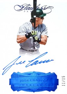 2017 FLAWLESS Signatures Autograph Blue /15