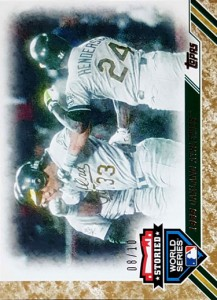 2017 TOPPS UPDATE STORIED WORLD SERIES Gold /10