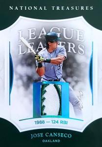2017 NATIONAL TREASURES LEAGUE LEADERS Blue HOLOFOIL Baseball PATCH 1/1
