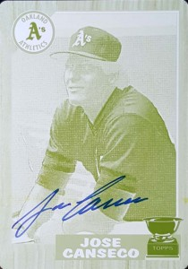 2016 TOPPS ARCHIVES WALMART PRINTING PLATE 1987 TOPPS #620 AUTOGRAPH YELLOW 1/1