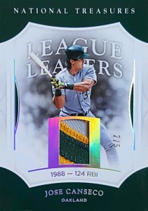 2017 National Treasures League Leaders Silver Holofoil Patch /5