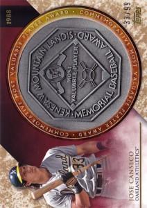 2017 Topps Update MVP Award Commemorative Medallions /99