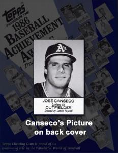 1986 Topps Baseball Achievement Awards Program