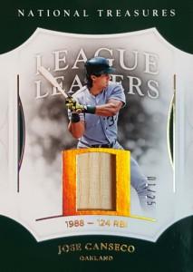 2017 National Treasures League Leaders Gold Holofoil Bat /25
