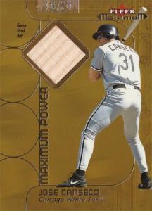 2002 FLEER MAXIMUM POWER BAT GOLD /25
