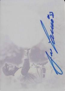 2014 LEAF Q MEMORABILIA AUTOGRAPHS JUMBO BAT Autograph Yellow Printing Plate 1/1