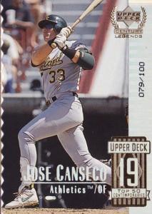1999 Upper Deck Century Legends Collection #69 die cut /100