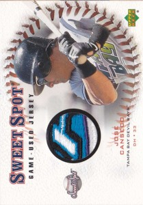 2001 Sweet Spot Game Jersey Patch Swap Custom