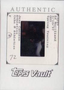 1997 Bowman's Best Topps Vault Original Slide Back 1/1