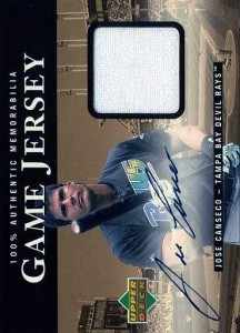 2000 Upper Deck Game Jersey Away Autograph