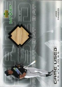 2000 Upper Deck MVP Game Used Souvenirs Bat
