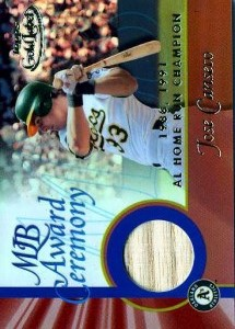 2001 Topps Gold Label HR Game Bat